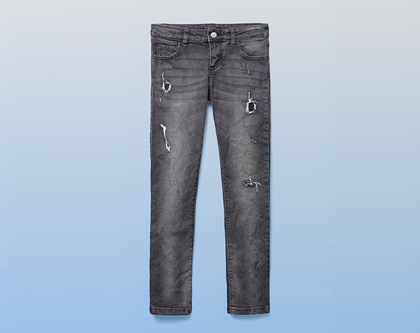 Jeans stretch avec déchirures