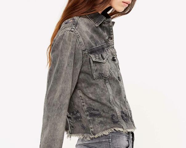 Blouson effilé en jeans