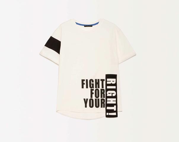 T-shirt avec inscription imprimée