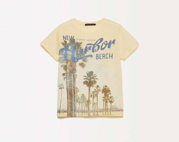 T-shirt avec maxi imprimé