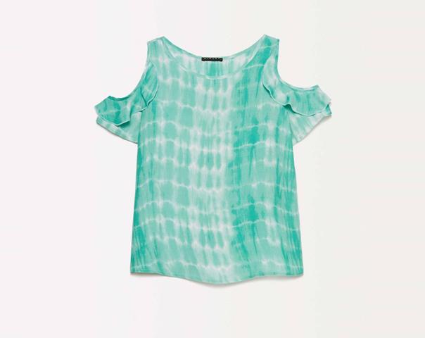 T-shirt tie-dye avec ouverture ronde