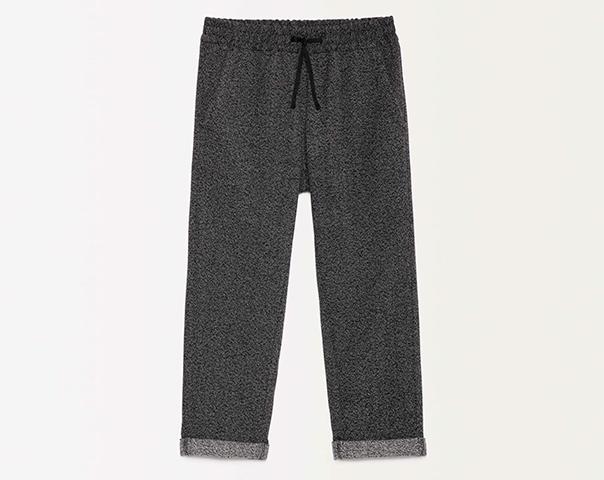 Pantalon en molleton avec revers