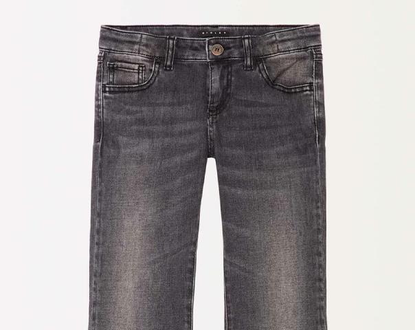 Jeans avec dentelle et franges