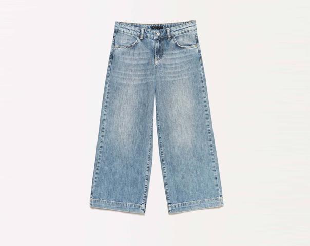 Jeans palazzo avec déchirures