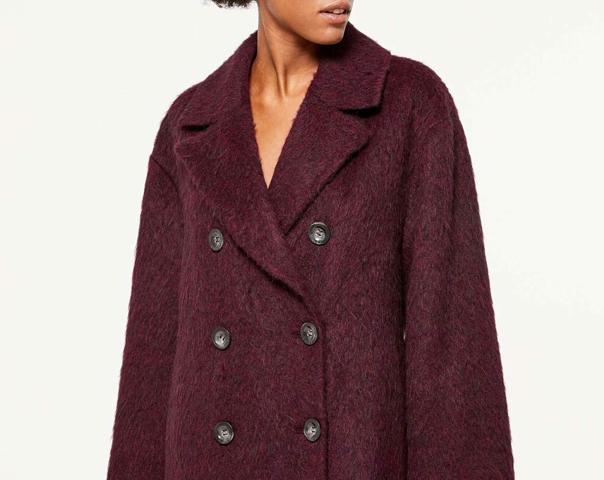 Manteau à boutonnage croisé